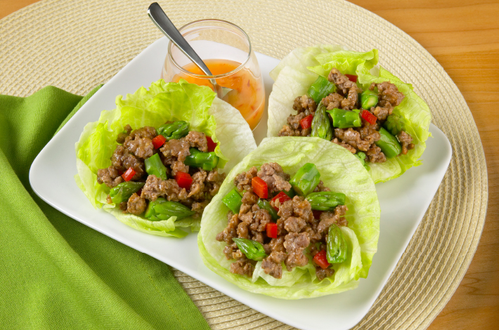 lamb and asparagus lettuce cups recipe