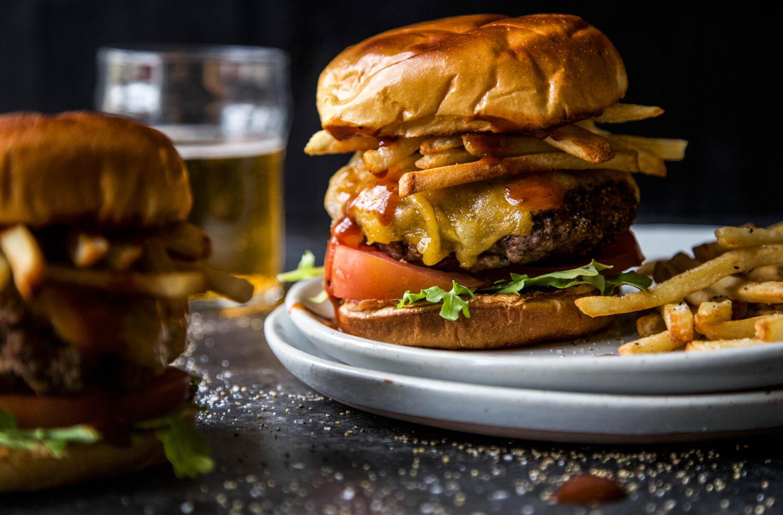 lamb burger and frites