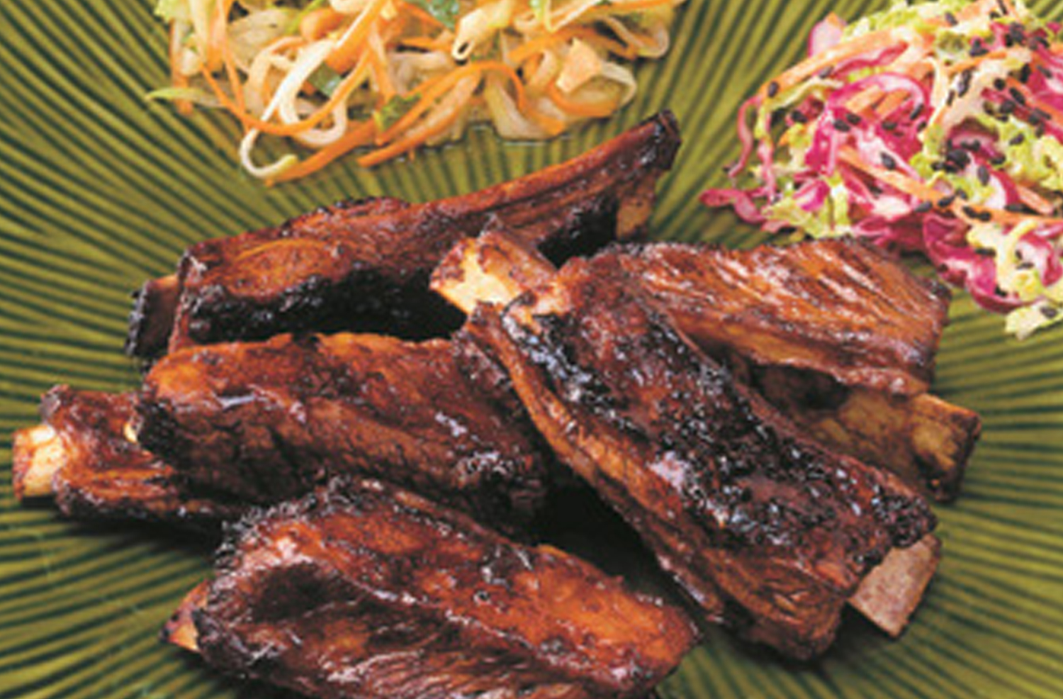 Singapore Lamb Riblets with Asian Slaw