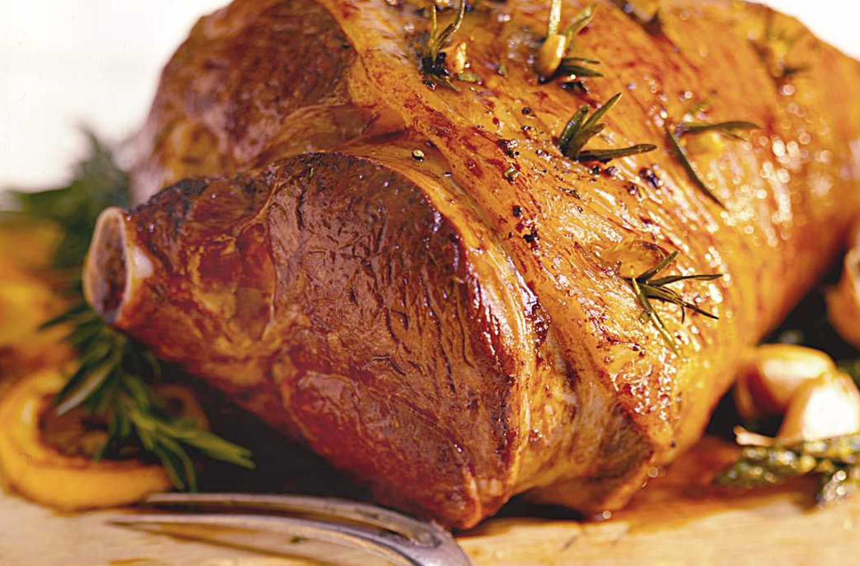 Garlic Rosemary Leg of Lamb