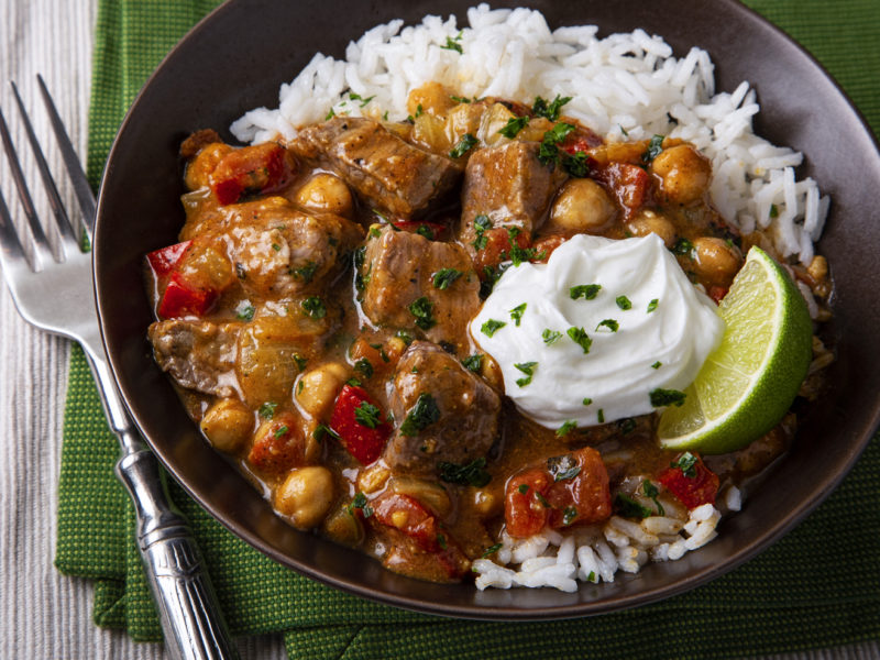 Slow Cook Spiced Indian Lamb Stew