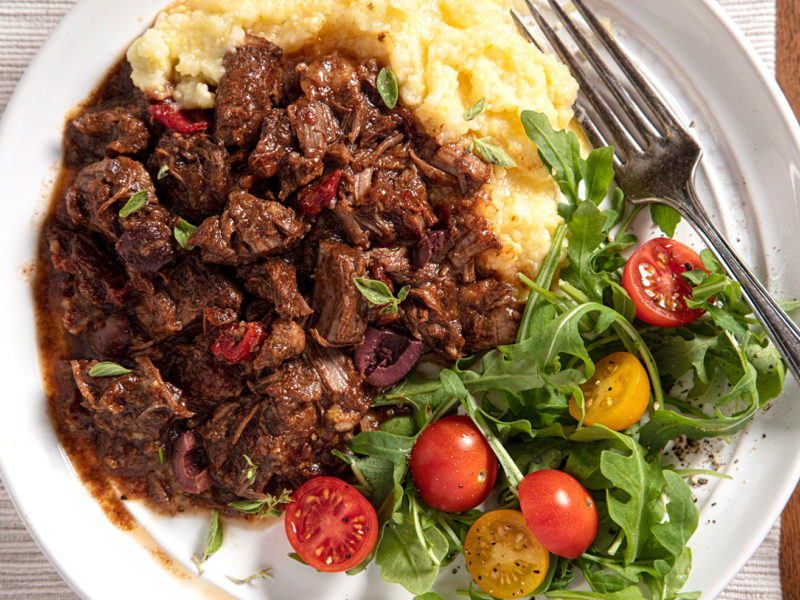 Ragout of California Lamb with Olive and Sun-Dried Tomato