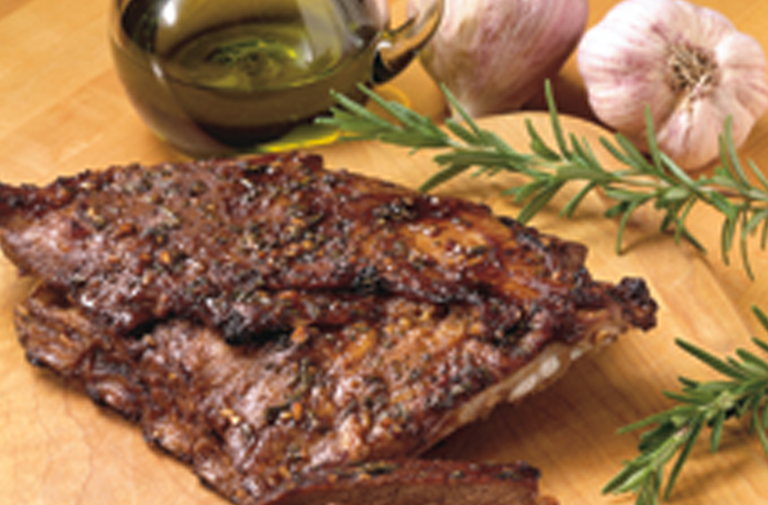 California Lamb Ribs With Garlic Glaze and Tarragon Dipping Sauce